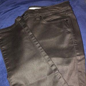 Lauren Conrad coated black denim size 8
